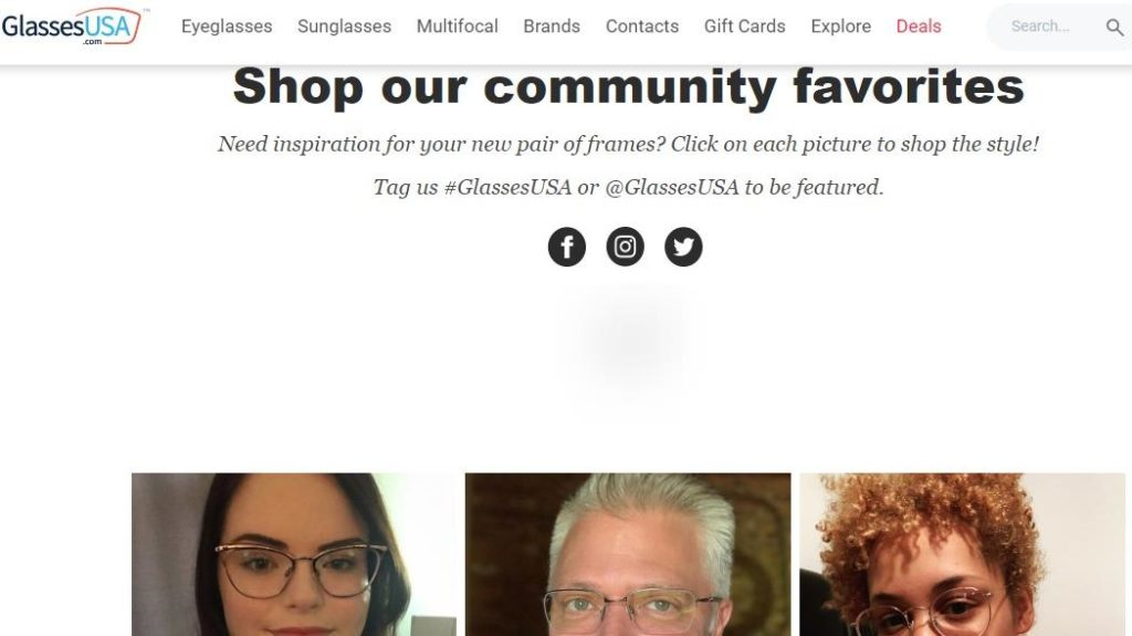 GlassesUSA website